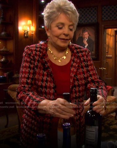 Julie's red tweed jacket on Days of our Lives