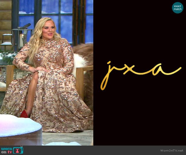Custom Dress by JXA Fashion worn by Heather Gay  on The Real Housewives of Salt Lake City