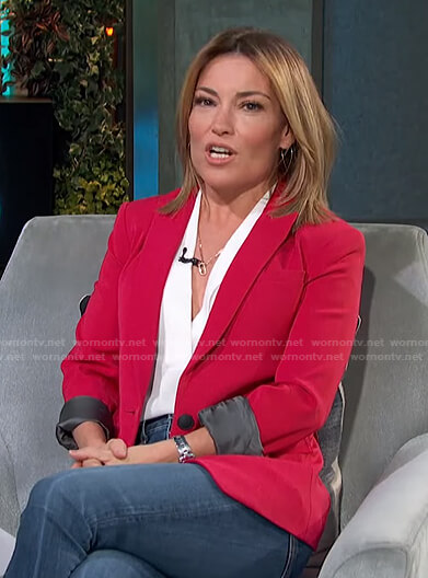 Kit's pink blazer on Access Hollywood