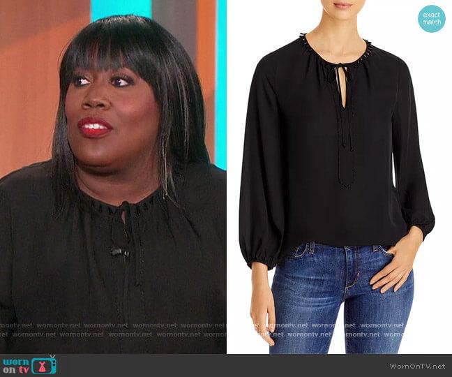 Noa Beaded Silk Blouse by Kobi Halperin worn by Sheryl Underwood  on The Talk
