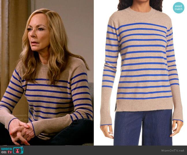 AAA Lean Lines Cashmere Sweater by La Ligne worn by Bonnie Plunkett (Allison Janney) on Mom