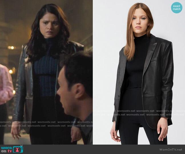 Mackage Tracy Leather Blazer worn by Mel Vera (Melonie Diaz) on Charmed