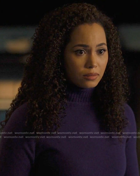 Macy's purple turtleneck sweater on Charmed