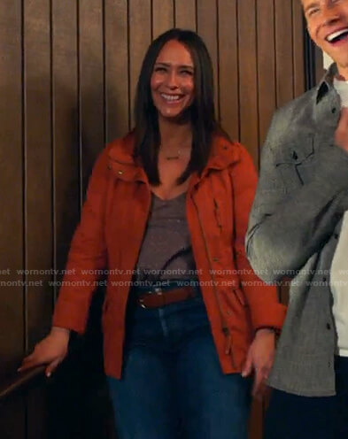 Maddie's orange jacket on 9-1-1