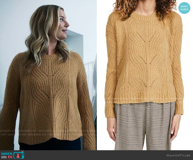 Dasher Stich Crew Sweater by Madewell worn by Nicolette Nevin (Emily VanCamp) on The Resident