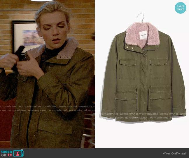 Madewell Sherpa Trimmed Surplus Jacket worn by Sylvie Brett (Kara Killmer) on Chicago Fire