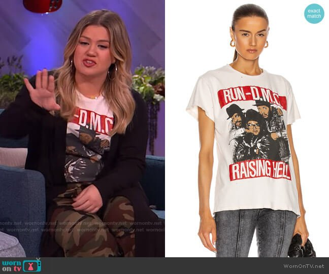 Rum DMC Tee by Madeworn worn by Kelly Clarkson  on The Kelly Clarkson Show