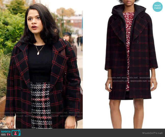 Maje Gloz Coat worn by Mel Vera (Melonie Diaz) on Charmed