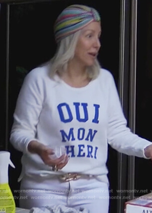 Margaret's Oui Mon Cheri sweatshirt on The Real Housewives of New Jersey