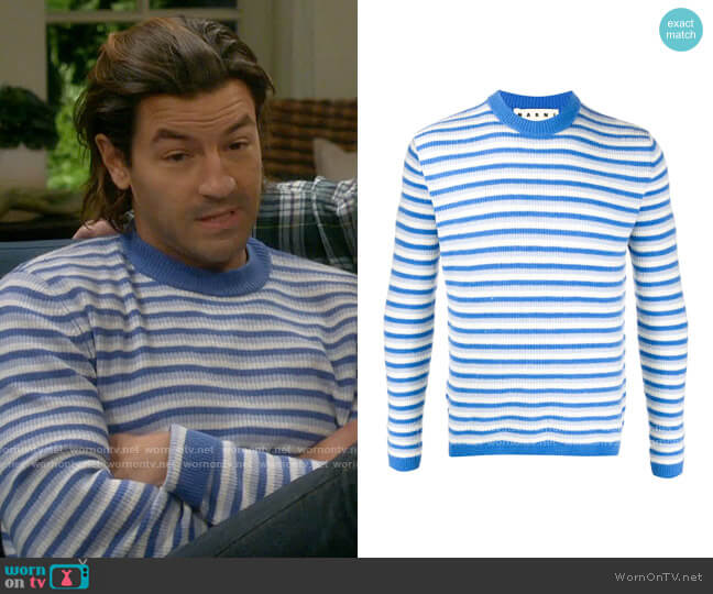 Marni Striped Rib Knit Jumper worn by Ryan on Last Man Standing