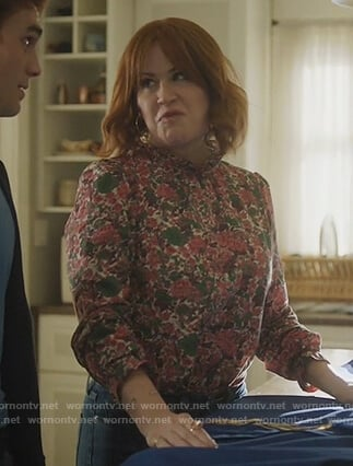 Mary's floral print top on Riverdale