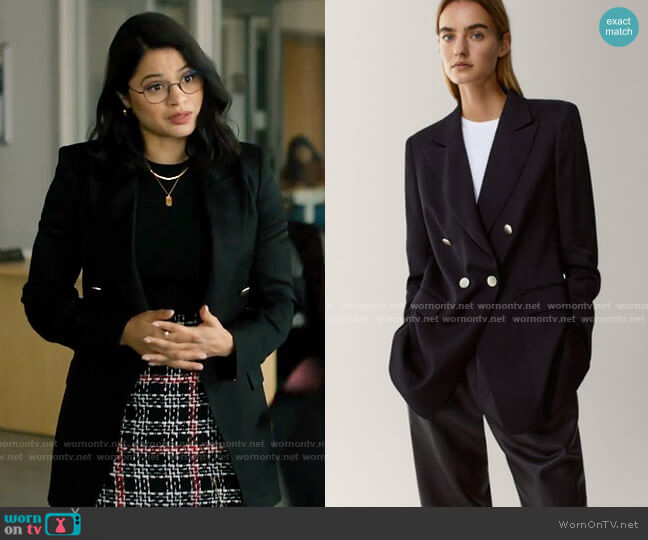 Massimo Dutti Double Breasted Blazer worn by Mel Vera (Melonie Diaz) on Charmed