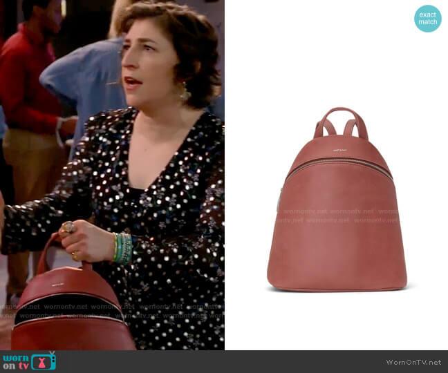 Matt & Nat Aries Backpack worn by Kat Silver (Mayim Bialik) on Call Me Kat