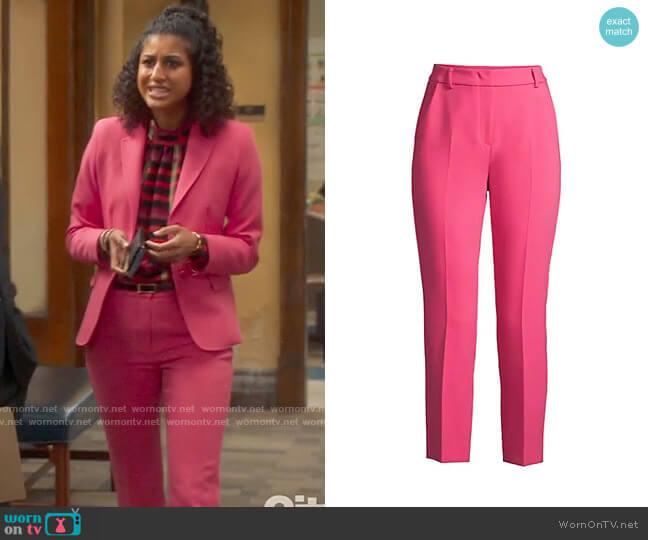 Weekend Max Mara Opaco Pants worn by Mikaela Shaw (Vella Lovell) on Mr Mayor