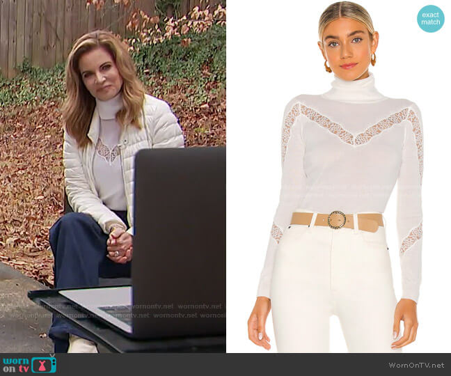 Lace Inset Sweater by Milly x Revolve worn by Natalie Morales  on Today