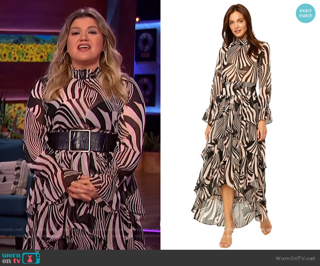 Giana Top and Daniella Skirt by Misa worn by Kelly Clarkson  on The Kelly Clarkson Show