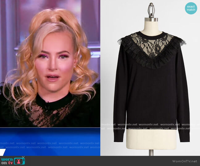 So Frilled to Meet You Sweater by ModCloth worn by Meghan McCain  on The View