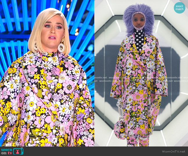 Fall 2020 Collection by Moncler 8 x Richard Quinn worn by Katy Perry  on American Idol