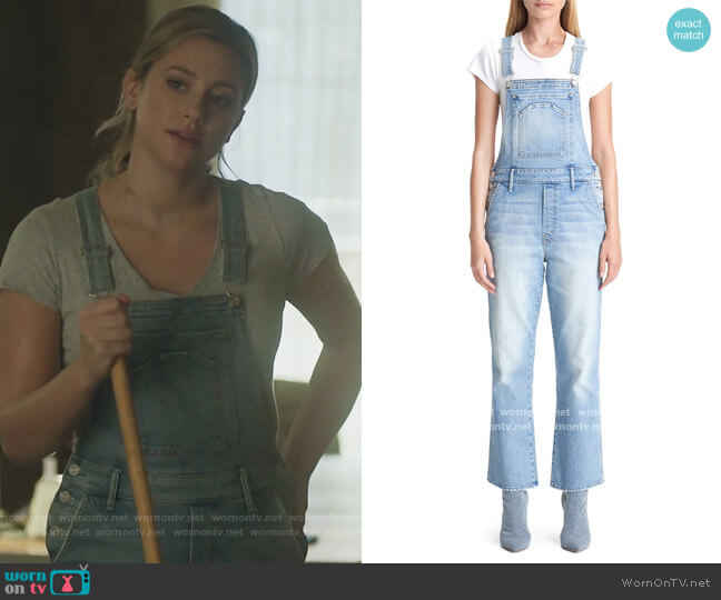 The Tripper Straight Leg Denim Overalls by Mother worn by Betty Cooper (Lili Reinhart) on Riverdale