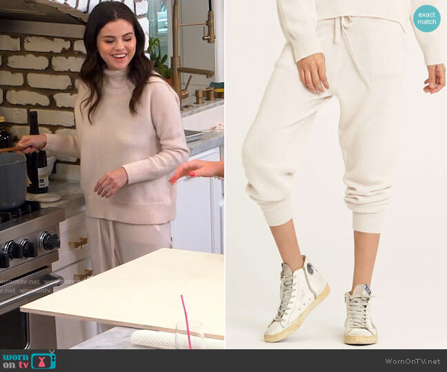 Naked Cashmere Uri Joggers worn by Selena Gomez  on Selena + Chef