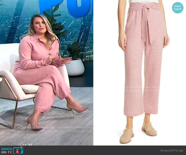 Nea Tie Waist Knit Pants by Nanushka worn by Carissa Loethen Culiner  on E! News
