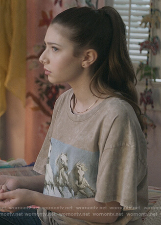 Natalie's horse graphic tee on The Unicorn