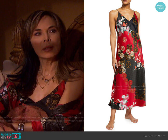 Medallion Nightgown by Natori worn by Kate Roberts (Lauren Koslow) on Days of our Lives
