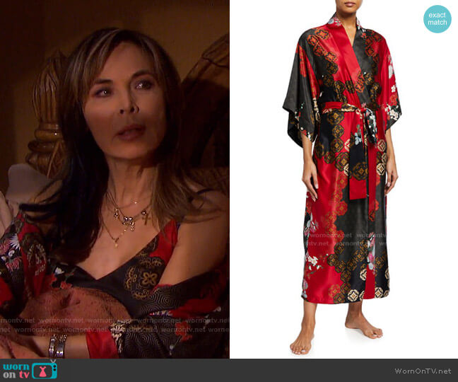 Medallion Robe by Natori worn by Kate Roberts (Lauren Koslow) on Days of our Lives