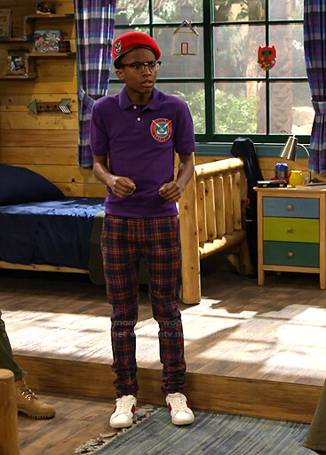 Noah's plaid pants on Bunkd
