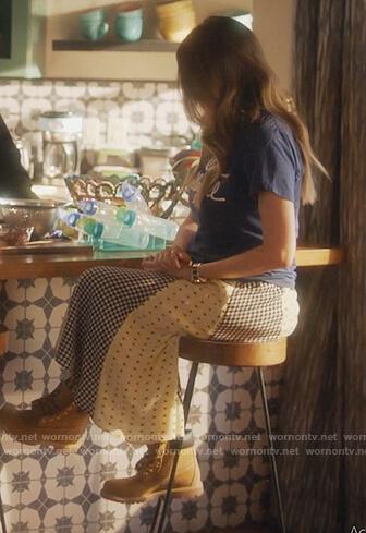 Nomi's mixed print skirt on Grown-ish
