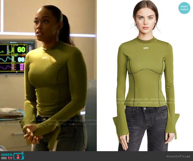 Multi Detail Long Sleeve Top by Off-White worn by Anissa Pierce (Nafessa Williams) on Black Lightning