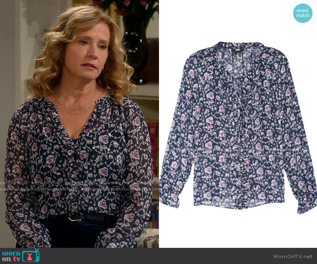 Paige Roma Blouse worn by Vanessa Baxter (Nancy Travis) on Last Man Standing