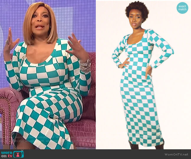 Uneck Long Dress by Phlemuns worn by Wendy Williams  on The Wendy Williams Show
