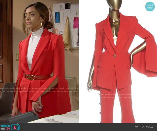 Prabal Gurung Suit worn by Zoe (Kiara Barnes) on The Bold & the Beautiful