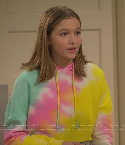 Presley's tie dye cropped hoodie on Side Hustle