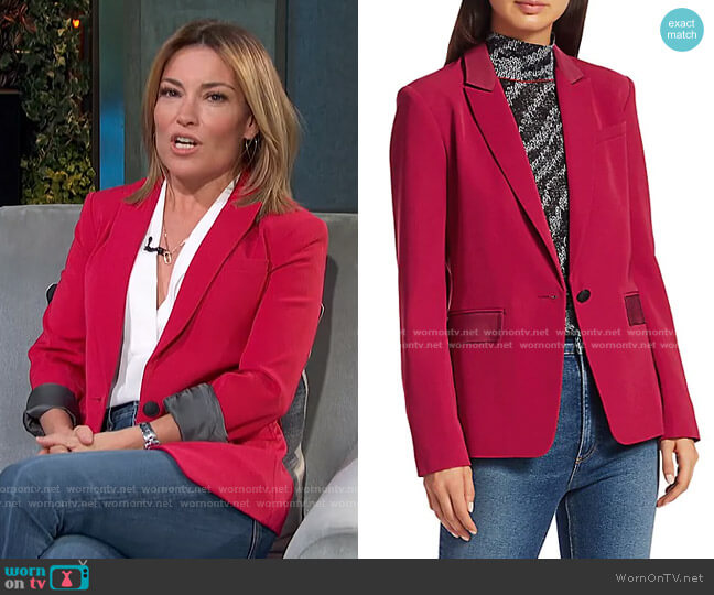 Rylie Button-Front Blazer by Rag & Bone worn by Kit Hoover  on Access Hollywood