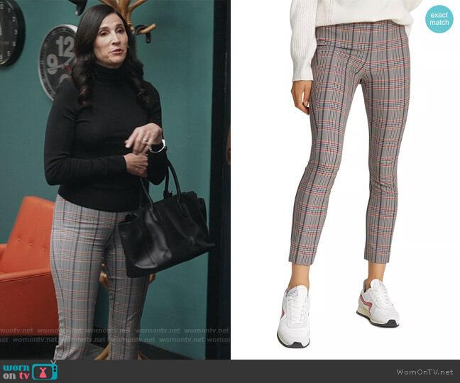 Simone Check Pants by Rag & Bone worn by Delia (Michaela Watkins) on The Unicorn