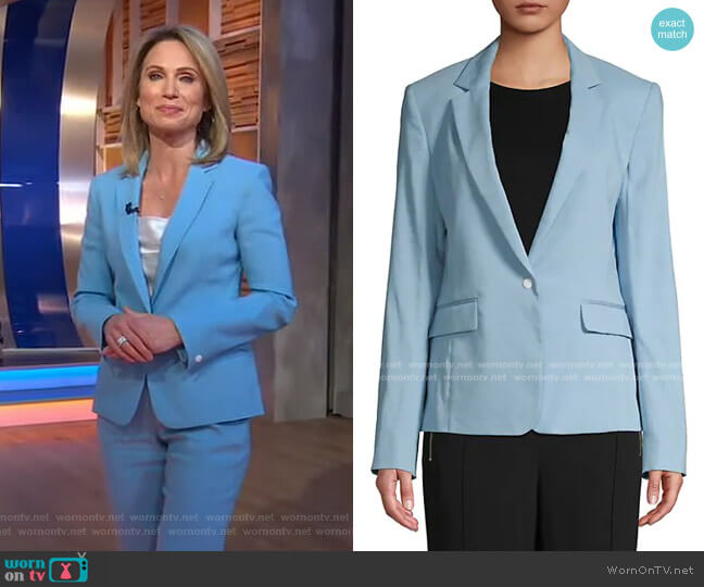 Lucy Linen-Blend Blazer by Rag & Bone worn by Amy Robach  on Good Morning America