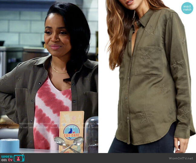 Rails Marcel Button-Up Shirt worn by Randi (Kyla Pratt) on Call Me Kat