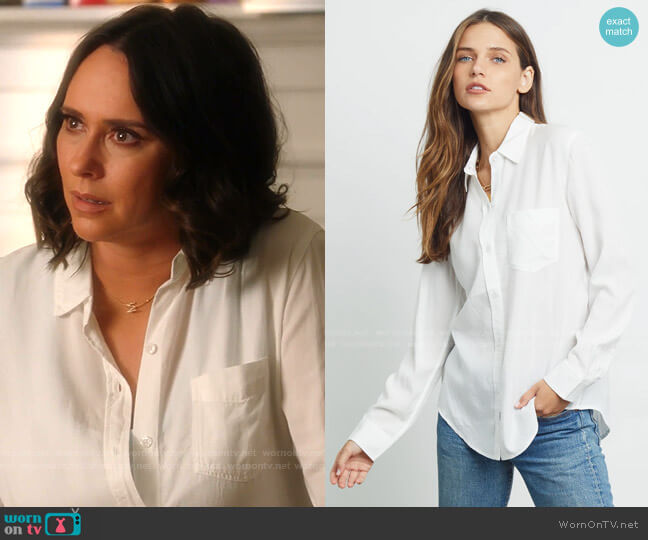 Paloma Long Sleeve Button-Up Shirt by Rails worn by Maddie Kendall (Jennifer Love Hewitt) on 9-1-1