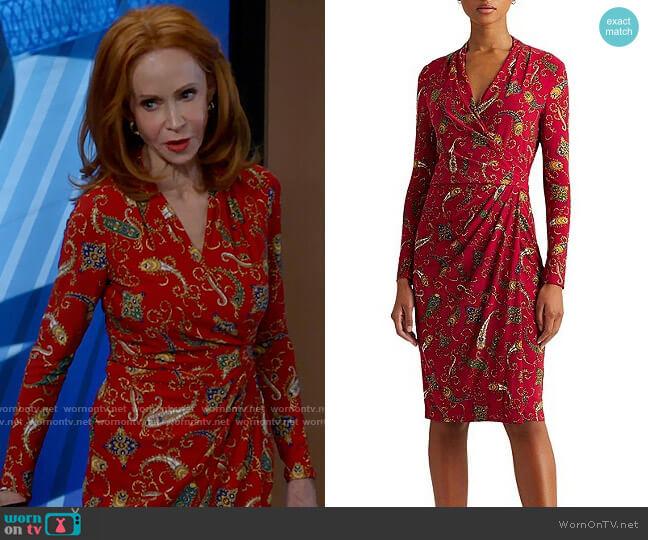 LAUREN Ralph Lauren Faria Dress worn by Sheila (Swoosie Kurtz) on Call Me Kat