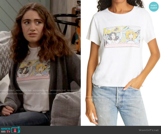 Re/Done Classic Roadtrip Graphic Tee worn by Jackie Raines (Rachel Sennott) on Call Your Mother