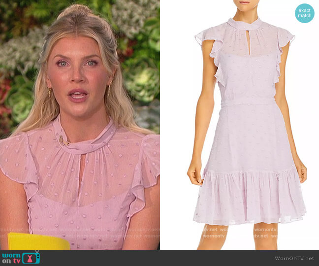 Dot Embroidered Dress by Rebecca Taylor worn by Amanda Kloots  on The Talk