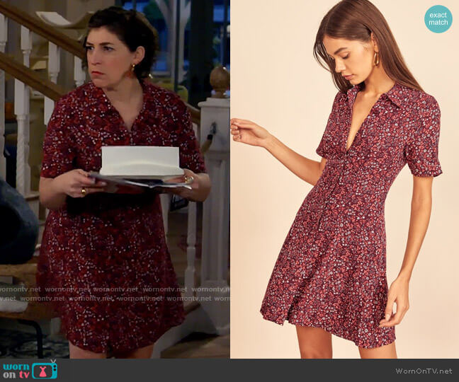 Reformation Johanne Dress worn by Kat Silver (Mayim Bialik) on Call Me Kat
