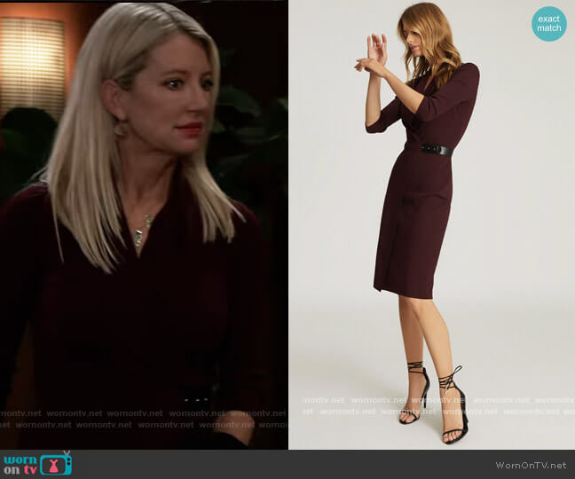 Luisa Dress by Reiss worn by Nina Reeves (Cynthia Watros) on General Hospital