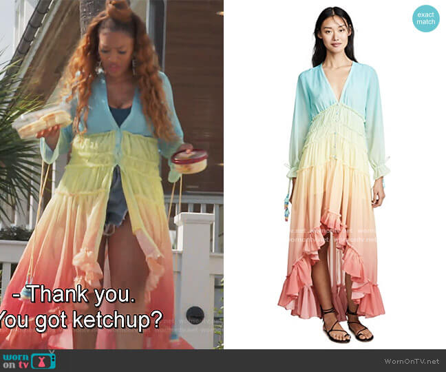 Rainbow Dress by Rococo Sand by Drew Sidora on The Real Housewives of Atlanta