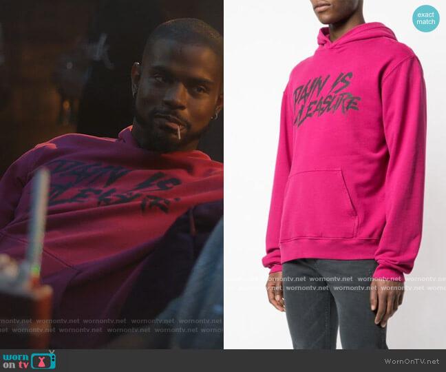 95 Hoodie Sweatshirt by RtA worn by Aaron Jackson (Trevor Jackson) on Grown-ish