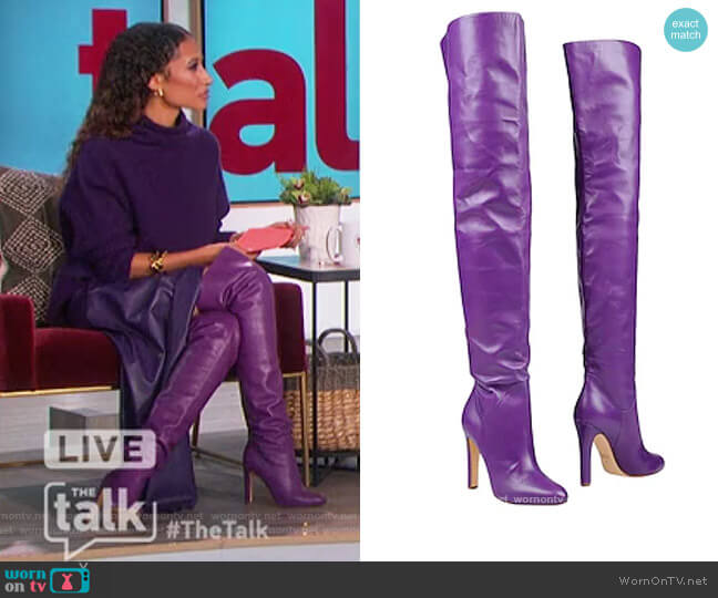 Knee High Boots by Francesco Russo worn by Elaine Welteroth  on The Talk