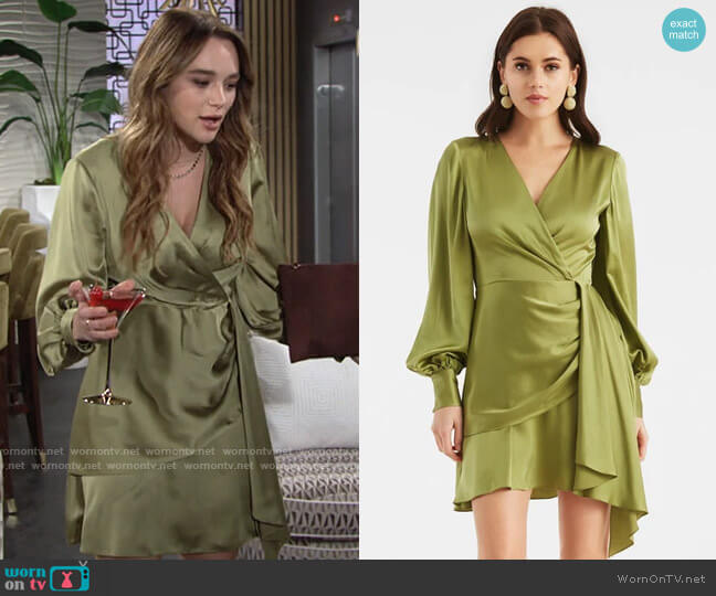 Sachin + Babi Daria Dress worn by Summer Newman (Hunter King) on The Young & the Restless