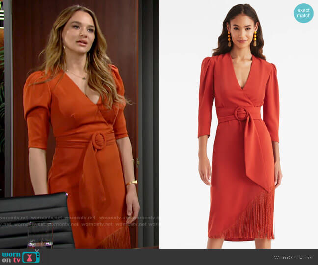 Sachin + Babi Iman Dress worn by Summer Newman (Hunter King) on The Young & the Restless